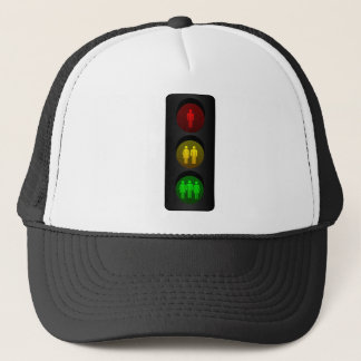 Traffic light trucker hat