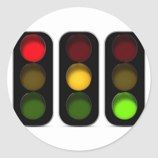 Traffic Lights Design Classic Round Sticker