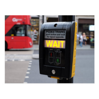 Traffic Lights in London Postcard