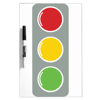 Traffic lights red green amber Dry-Erase whiteboards