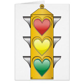 Traffic Love Light Card