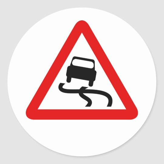 Traffic Sign Classic Round Sticker