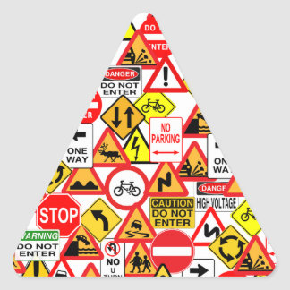 Traffic signs stickers