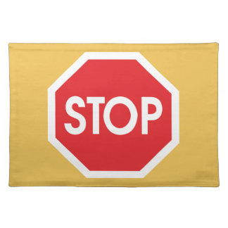 Traffic stop sign (infrastructure road works) place mats