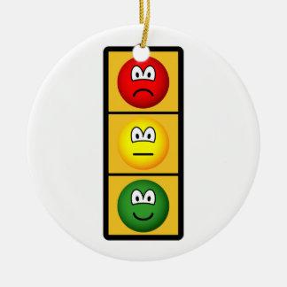 trafficlight-sadhappy.png round ceramic ornament