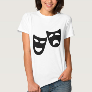 Tragedy and Comedy Masks Tshirts