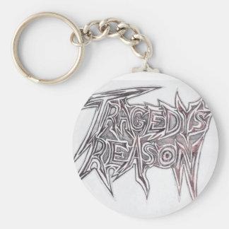 Tragedys reason basic round button keychain