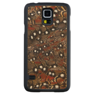 Tragopan Breast Feather Abstract Carved Maple Galaxy S5 Case