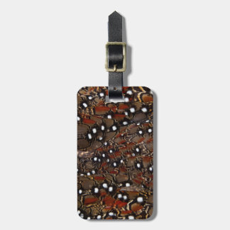 Tragopan Breast Feather Abstract Luggage Tag
