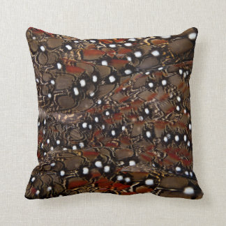 Tragopan Breast Feather Abstract Throw Pillow