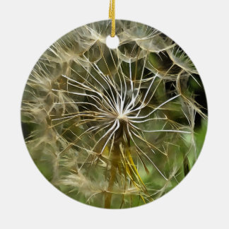 Tragopogon Flower Salsify Ceramic Ornament