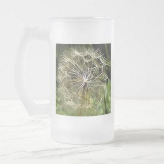 Tragopogon Flower Salsify Frosted Glass Beer Mug