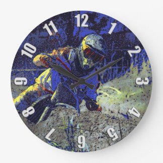 Trail Blazer Motocross Rider Large Clock