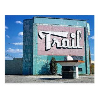 Trail Drive-In Theater, Route 66, Amarillo, Texas Postcard