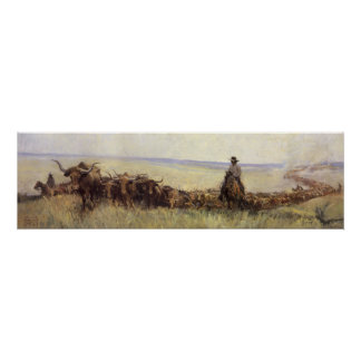 Trail Herd to Wyoming by WHD Koerner Poster