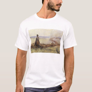Trail Herd to Wyoming by WHD Koerner T-Shirt