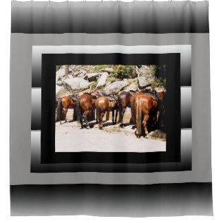 Trail Horses Shower Curtain