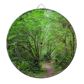 Trail in Redwood Forest Dart Boards