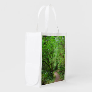 Trail in Redwood Forest Reusable Grocery Bag
