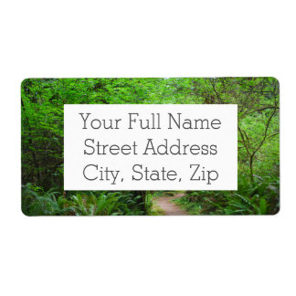 Trail in Redwood Forest Shipping Label
