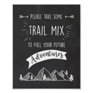 Trail mix Bar Sign Adventure table sign Birthday