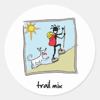"""""""Trail Mix"""" Round Sticker"""