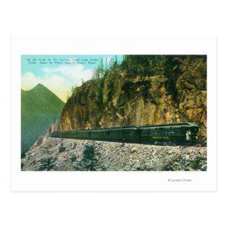 Trail North of Rocky Point, White Pass & Yukon Postcard