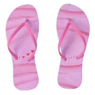 Trail of Hearts on Blended Pink FlipFlops Flip Flops