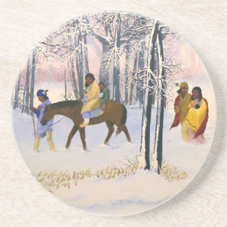 "Trail of Tears image ""Morning Tears"" coaster"