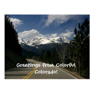 Trail Ridge Road, Rocky Mountain National Park, CO Postcard