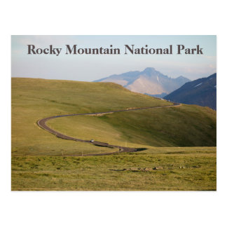 Trail Ridge Rocky Mountain National Park Postcard