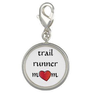 Trail Runner Mom Red Heart Design Charm