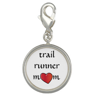 Trail Runner Mom Red Heart Design Charms