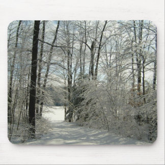 Trail To The Winter Lake-Mousepad Mouse Pad