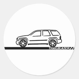 Trailblazer Black Truck Classic Round Sticker