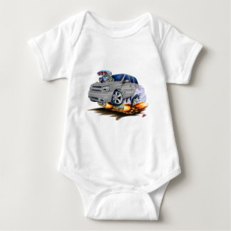 Trailblazer SS Silver Truck Baby Bodysuit