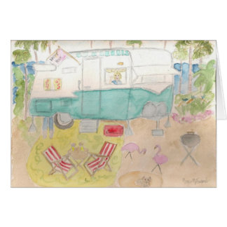 Trailer Art - Shasta Beach Camp Card