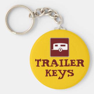 Trailer Camper Motorhome Basic Round Button Keychain