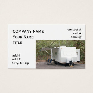 trailer camping business card