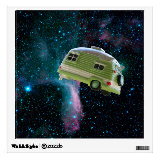Trailer in space wall decal