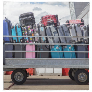 Trailer on airport filled with suitcases.JPG Napkin
