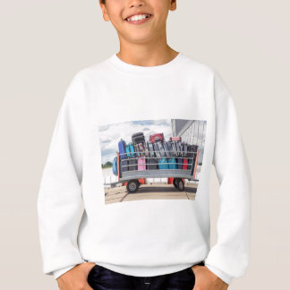 Trailer on airport filled with suitcases.JPG Sweatshirt