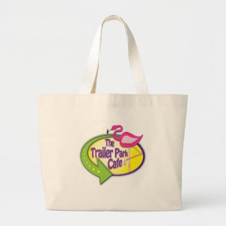 Trailer Park Cafe Logo Products Canvas Bags