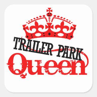Trailer Park QUEEN Square Stickers