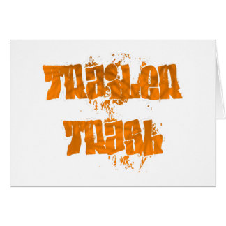 trailer trash graffiti design card