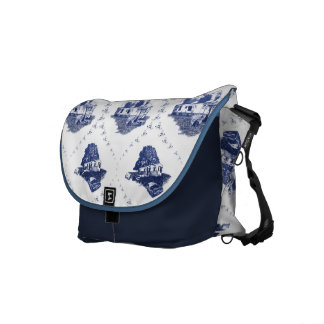 Trailer Trash Toile [Rickshaw Bag] Messenger Bag