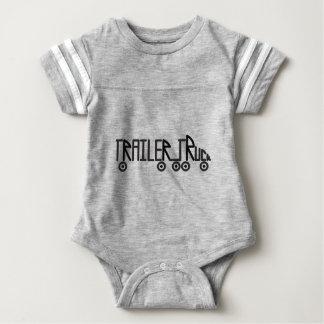Trailer Truck Baby Bodysuit