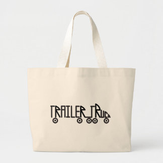 Trailer Truck Large Tote Bag