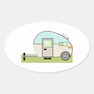 Trailer Vehicle Oval Sticker