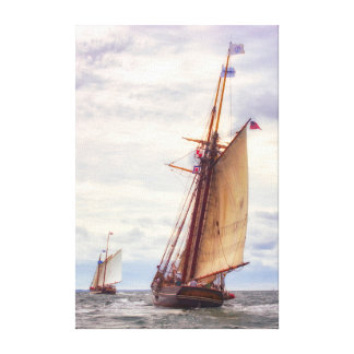 Trailing The Whaler Canvas Print